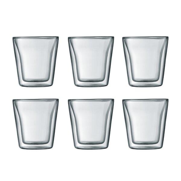 Canteen 3 oz. Glass Glassware Set (Set of 6) by Bodum