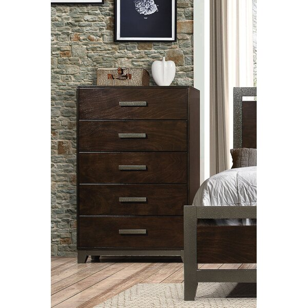 Shirehampton 5 Drawer Chest by Union Rustic