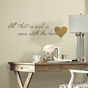 Heart Quote Peel and Stick Wall Decal & Wall Decals Youu0027ll Love | Wayfair