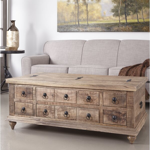 Pelayo Solid Wood Coffee Table With Storage By Bloomsbury Market