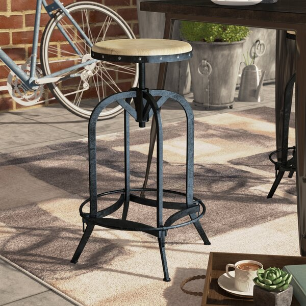 Carley Wood 27.75 Patio Bar Stool by Williston Forge