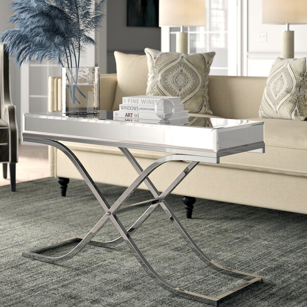 Edwige Cross Legs Coffee Table by Willa Arlo Interiors Willa Arlo Interiors