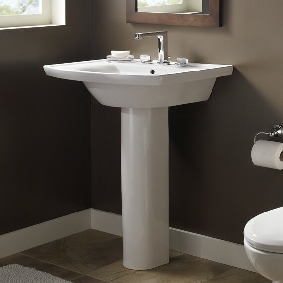 Tropic Vitreous China 27 Pedestal Bathroom Sink with Overflow by American Standard