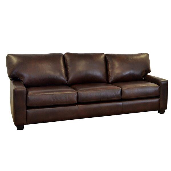 Review Kenmore Studio Leather Sofa