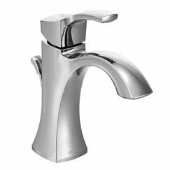 Voss Single Hole Bathroom Faucet with Drain Assembly by Moen