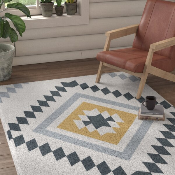 Marlborough Yellow/Black Area Rug by Union Rustic