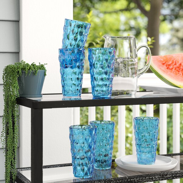 Honeycomb Plastic Highball Glasses (Set of 6) by Birch Lane™