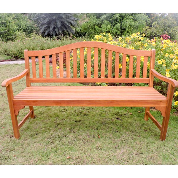Enright Wooden Garden Bench by Breakwater Bay