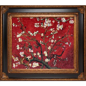 'Branches of an Almond Tree in Blossom' by Vincent Van Gogh Framed Painting by Astoria Grand