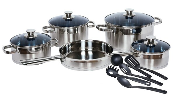 Gourmet Chef Stainless Steel 14 Piece Cookware Set by Gourmet Chef