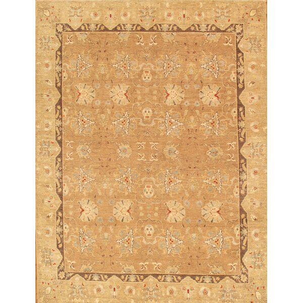 Ferehan Hand-Knotted Light Brown Area Rug by Pasargad
