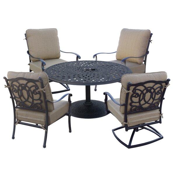 Battista 5 Piece Conversation Set with Cushions by Fleur De Lis Living