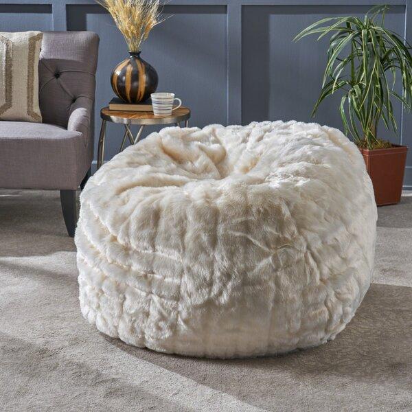 Hamblen Standard Faux Fur Bean Bag Sofa By Greyleigh