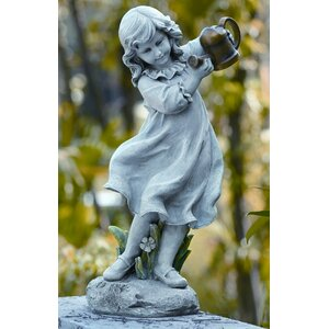 Girl with Watering Can Statue