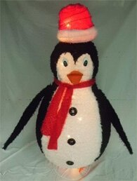 Collapsible Furry Penquin by LB International