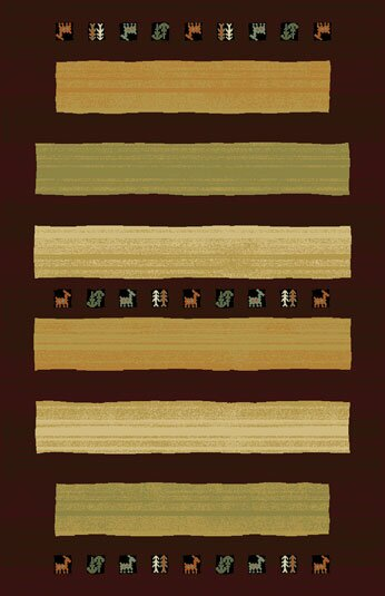 Germantown Brown Area Rug by Bloomsbury Market