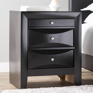 Medford 3 Drawer Nightstand Latitude Run
