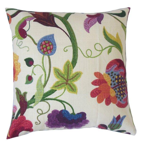 Salem Floral Floor Pillow by Red Barrel Studio