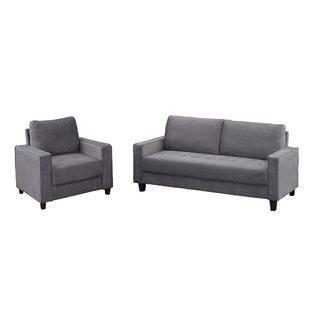 Journel 2 Piece Velvet Living Room Set (Set of 2) by Latitude Run®
