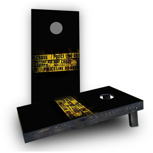 Police Line Do Not Cross Tape Cornhole Boards (Set of 2) by Custom Cornhole Boards
