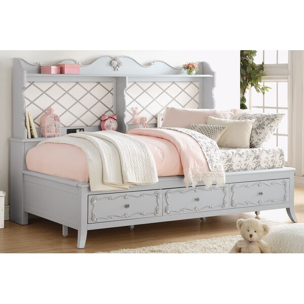 Saffold Platform Bed with Drawers and Shelves by Harriet Bee