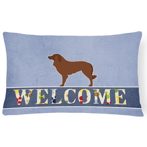 Du Bois Portuguese Sheepdog Dog Welcome Lumbar Pillow by Red Barrel Studio