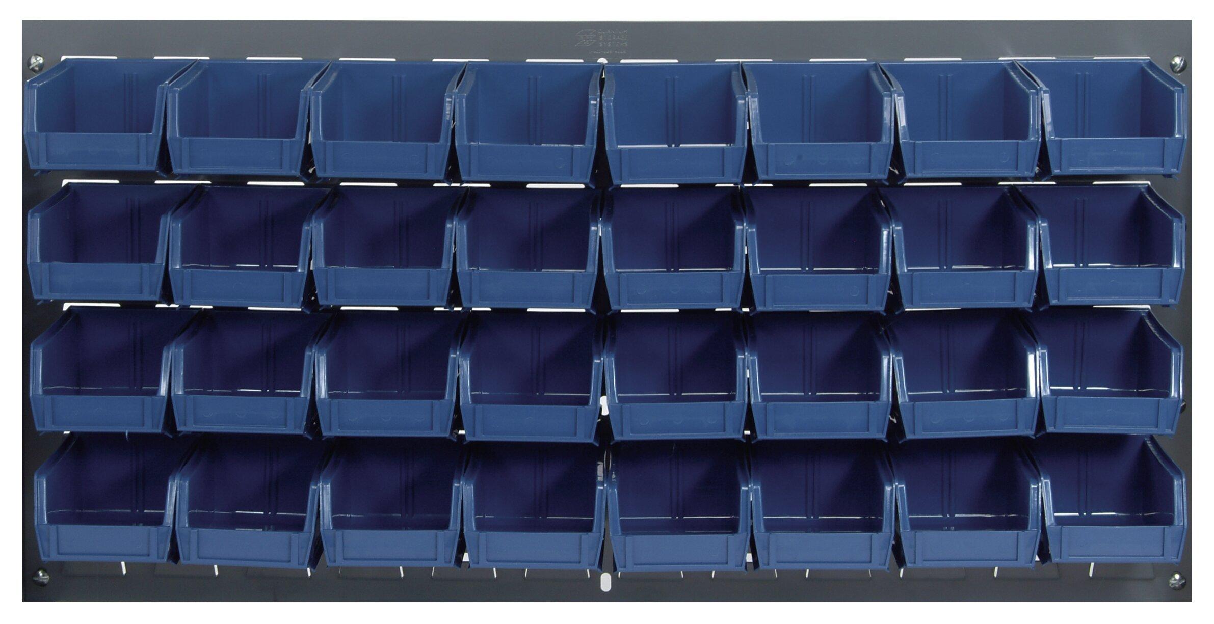 Versatile Heavy Duty Plastic Storage Parts Bins Boxes Louvre Panel Bin Kit 22