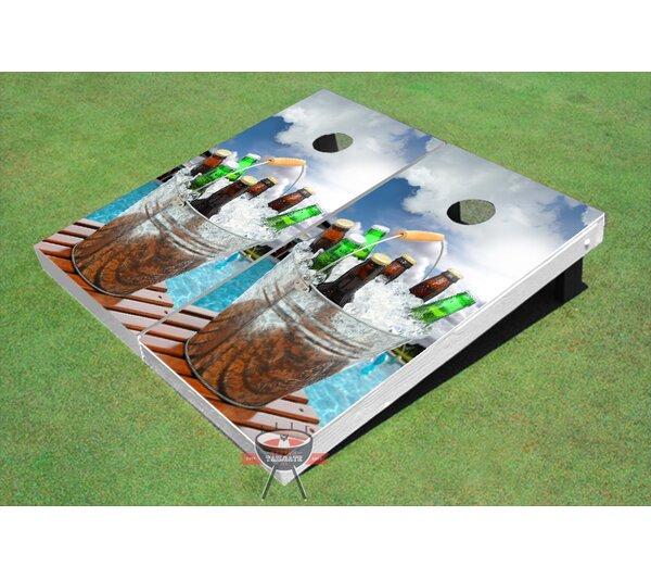 Beach Beer Bucket Cornhole Board (Set of 2) by All American Tailgate