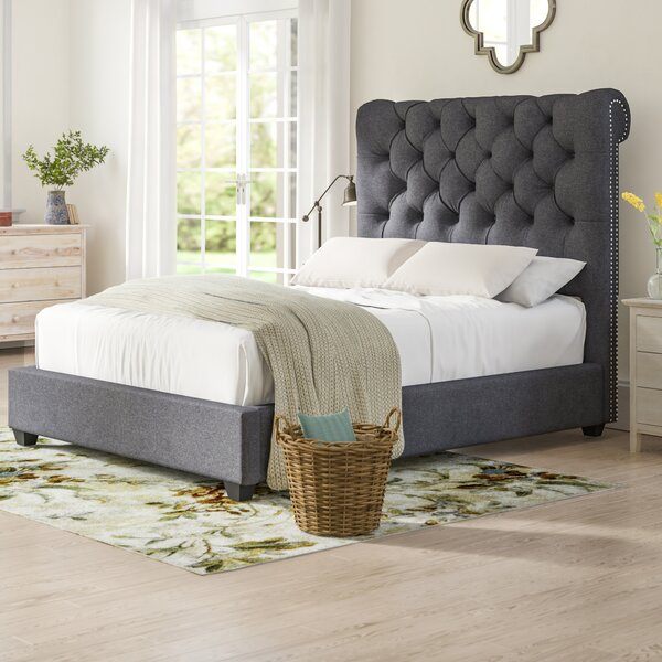 Agda Queen Upholstered Standard Bed by Birch Lane™ Heritage