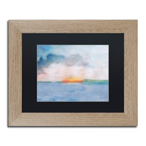'Sunset' Framed Watercolor Painting Print by Trademark Fine Art