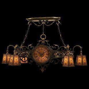 Epicurean 6-Light Shaded Chandelier By Fine Art Lamps