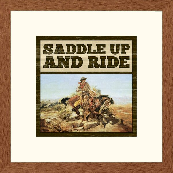 Western Saddle Up Framed Graphic Art by Global Gallery