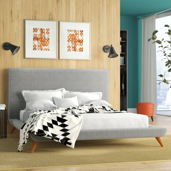 Valle Upholstered Platform Bed by Mercury Row