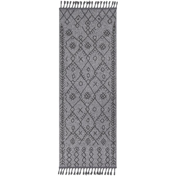 Kress Bohemian Charcoal/Gray Area Rug by Union Rustic