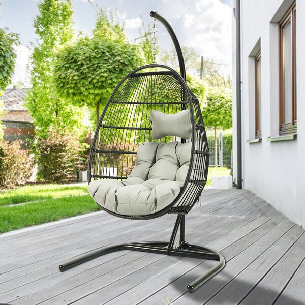 Massasoit Hanging Egg Swing Chair with Stand by Bayou Breeze