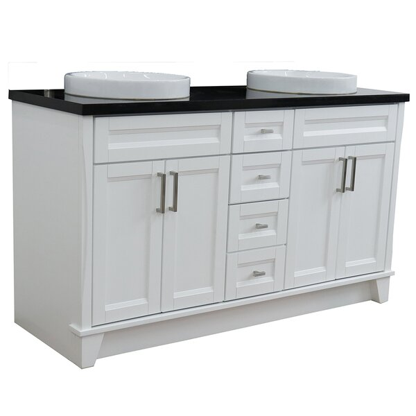 Menlow 61'' Double Bathroom Vanity Set