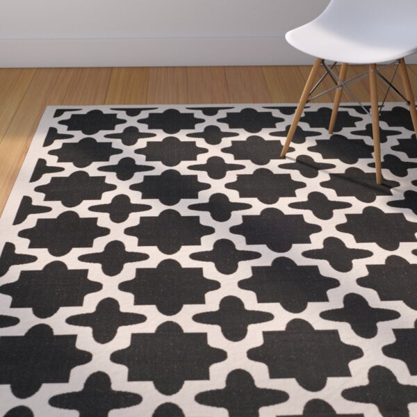 Fredricks Black/Beige Outdoor Area Rug by Alcott Hill