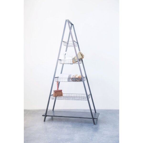 Maranda Metal 5-Tier Ladder Bookcase by Gracie Oaks