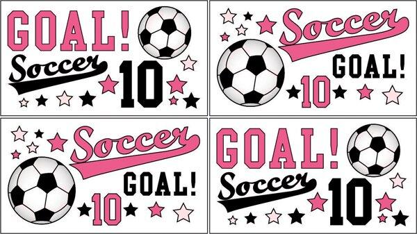Soccer Pink Wall Decal by Sweet Jojo Designs