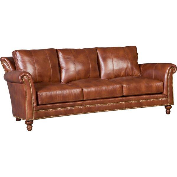 Richardson Stationary Leather Sofa by Bradington-Young