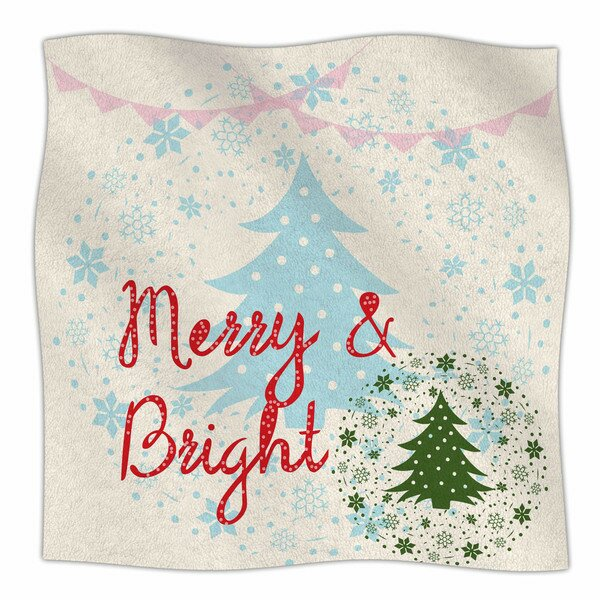 Merry And Bright by Famenxt Fleece Blanket by East Urban Home