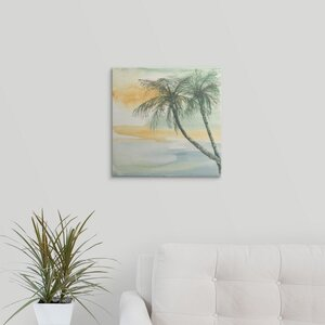 Island Sunset II by Chris Paschke Painting Print on Wrapped Canvas by Great Big Canvas