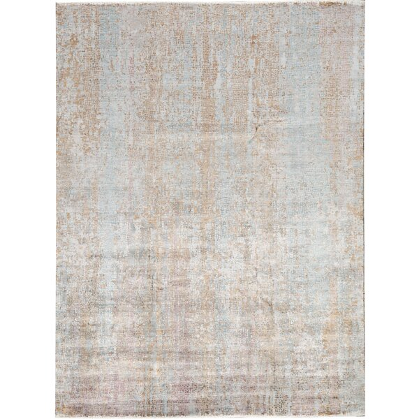 Neo Villa Abstract Hand-Knotted Brown Area Rug