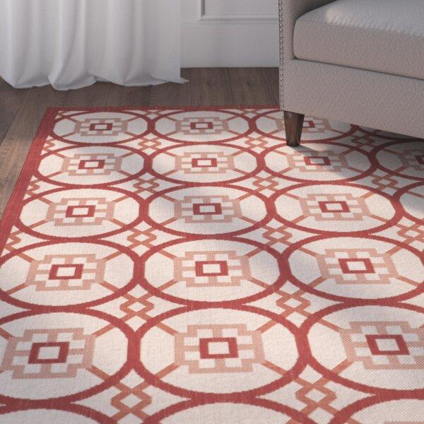 Nagy Geometric Red/Beige Indoor/Outdoor Area Rug