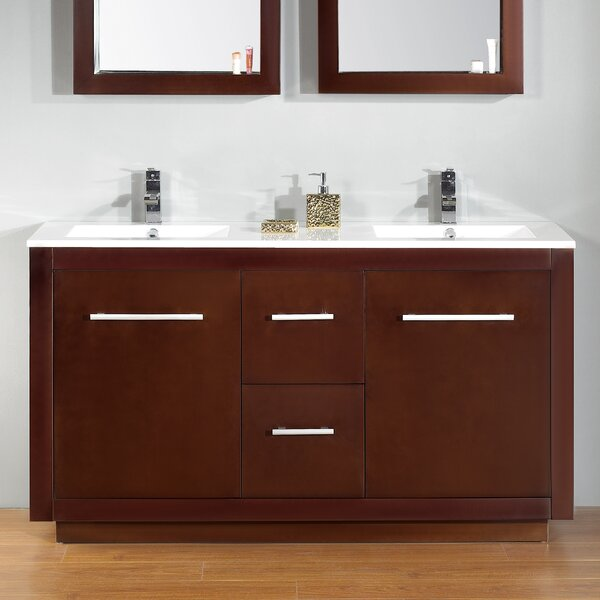 Cubix 60 Double Vanity Set by Ove Decors