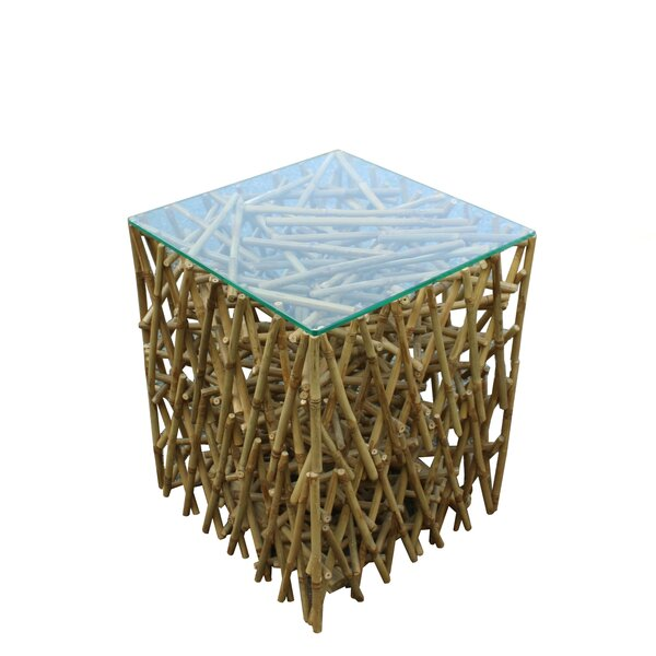 Ludlow Maze Bamboo End Table by Bay Isle Home
