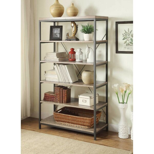 Nisha 5 Shelve Etagere Bookcase by Gracie Oaks