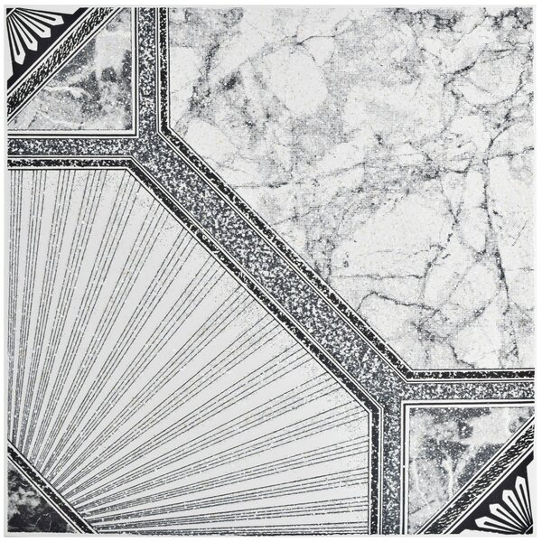 Stellaire 12.5 x 12.5 Ceramic Field Tile in White/Gray by EliteTile