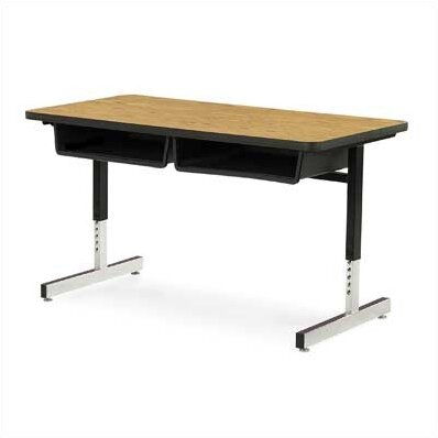 8700 Series Wood Adjustable Height Multi-Student Desk by Virco