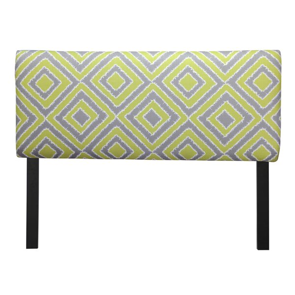 Whitney Nouveau Upholstered Panel Headboard by Wrought Studio
